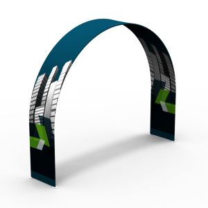 "36"" d x 89"" h x 116"" w Waveline® Arch with Podium"