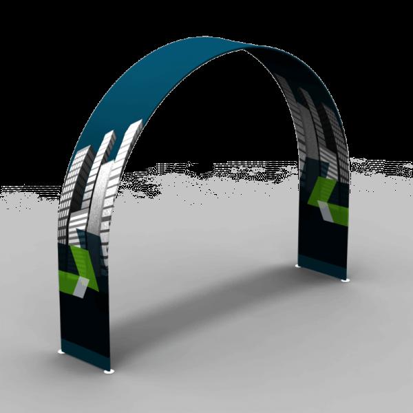 """36"""" d x 89"""" h x 116"""" w Waveline® Arch with Podium"""