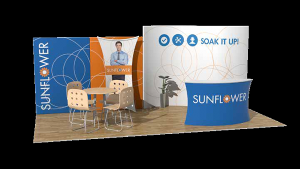 Fusion Klik 10x20 Sunflower Booth